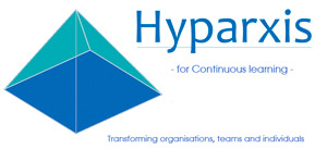 Hyparxis 'for continuous learning' logo